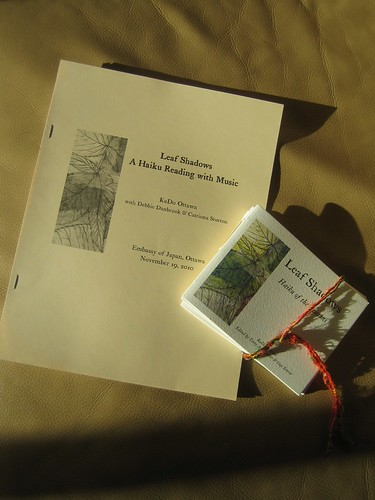 Leaf Shadows chapbook