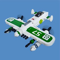 Miint Zero - Sky Fighter (Fredoichi) Tags: plane fighter lego space military micro shooter skyfi microscale dieselpunk skyfighter fredoichi