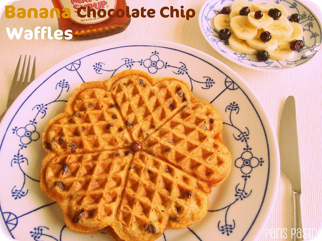 Banana - Chocolate Chip Waffles