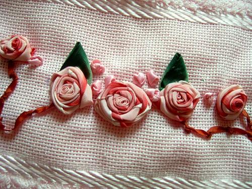 bordado flores em fitas by cota janoski