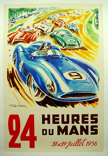 020-24 horas du Mans 1956-© 2010 Vintage Auto Posters. All Rights Reserved