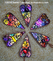 November Sunsets Collection (sucra88) Tags: glass heart mosaic oneofakind jewelry wearableart pendant glassmosaic handmadejewelry mosaicheart mosaicjewelry mosaicpendant