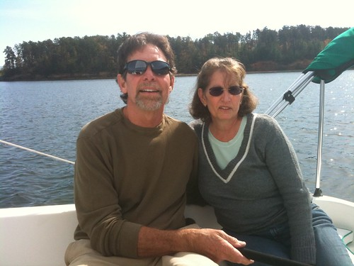 John and Linda on their boat
