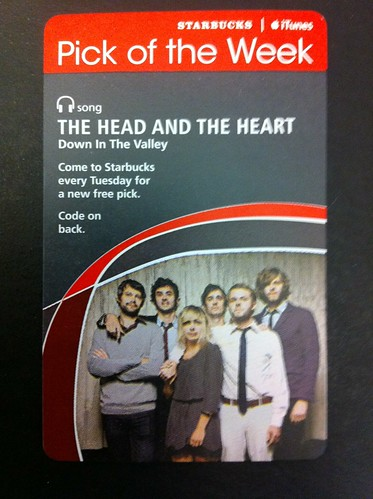 Starbucks iTunes Pick of the Week - The Head and The Heart - Down In The Valley