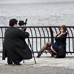 Trench Coat Shoot (johnwilliamsphd) Tags: city nyc newyorkcity copyright ny newyork black paris berlin brooklyn john model photographer waterfront williams photoshoot c trenchcoat eastriver  williams john johncwilliams johnwilliamsphd phd