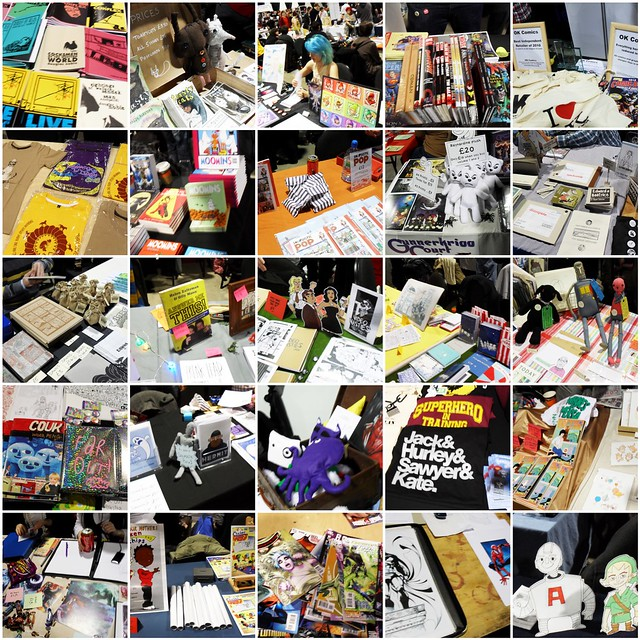 Thought Bubble 2010 stalls mosaic