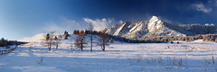The Coldest Morning (Bryce Bradford) Tags: park winter panorama snow mountains sunrise colorado rocky olympus boulder zuiko flatirons chataqua f3556 1442mm e520