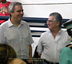 Secretario da Educacao e Dirigente Regional de Ensino, no aniversario do CEU Jaguare 27/11/2010