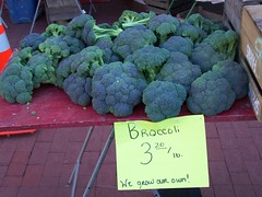 (High priced) Broccoli at the Silver Spring Farmers Market