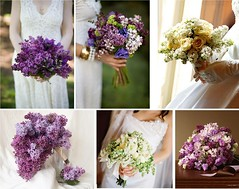 Lilac Bridal Wedding Bouquets (One White Dress) Tags: flowers wedding inspiration flower color colour floral beautiful photo pretty purple photos lavender lilac mauve theme florist bouquet weddings bridal ideas lilacs stylish posy centrepiece