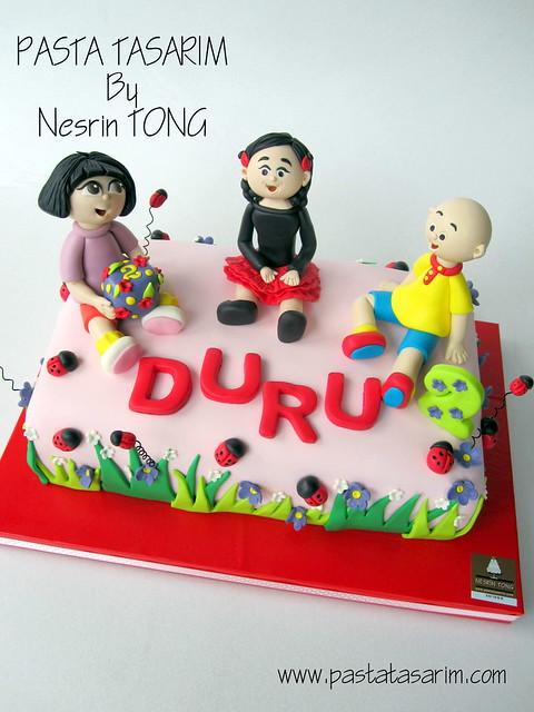 DURU 2ND BIRTHDAY CAKE - DURU AND DORA AND CAILLOU