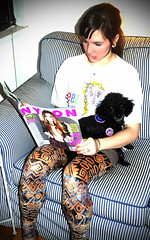 Required Reading (Rachel Citron) Tags: nyc fashion lindsay leggings toypoodle rescuedog nylonmag readingmagazine shelterdog newyorkcityfashion downtownfashion lindsayandriley