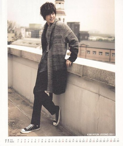 Kim Hyun Joong 2011 Calendar November 1