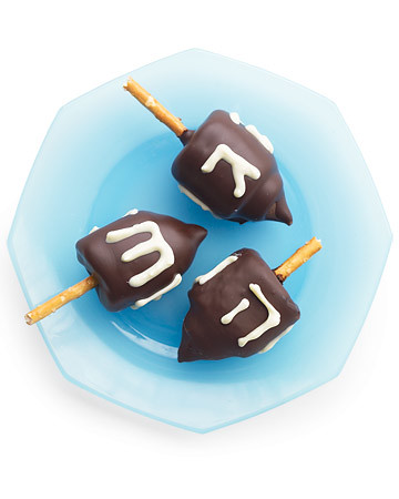 Chocolate Marshmallow Dreidels (Courtesy MarthaStewart.com)