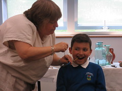 Having a 'tooth worm' removed by a Roman dentist.
