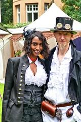 Steampunk couple #4 (whistlah50) Tags: couple steam steampunk fashion woman man victorian era mechanical jules verne outdoor cloth
