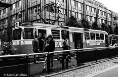 Tram is here (@acastellonm) Tags: sweden suecia gothenburg gotemburgo goteborg tram tranvía tren blanco negro black white
