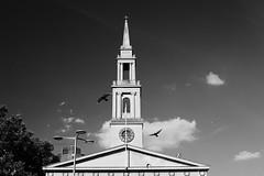 st john's (Paul Steptoe Riley) Tags: london uk england britain street photography monochrome blackandwhite se1 church pigeons religion architecture clock