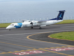 Bombardier Dash 8 approaching Horta 170616_013 (jimcnb) Tags: 2017 juni urlaub azoren azores açores faial horta airport castelobranco cstrg bombardier dash 8 sata
