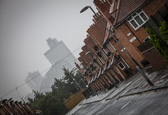 Manchester Through the Mist (Greater Manchester Police) Tags: cisbuilding oneangelsquare cheethamhill manchesterrain sme smedlystreet citytower manchesterintherain