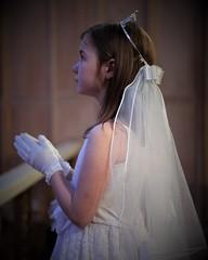 First Communion (rachel.odonnell_3) Tags: first communion veil dress white gloves praying hands