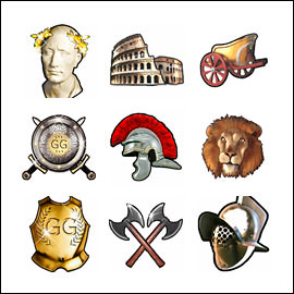 free Gladiator's Gold slot game symbols