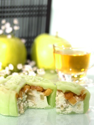Apple Caramel Snowskin Mooncake