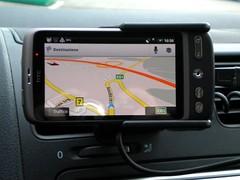 HTC Desire + Google Navigator
