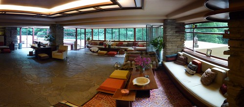 Fallingwater living room by Frank Lloyd Wright (pano 5)