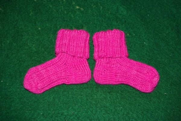 Fat pink socks