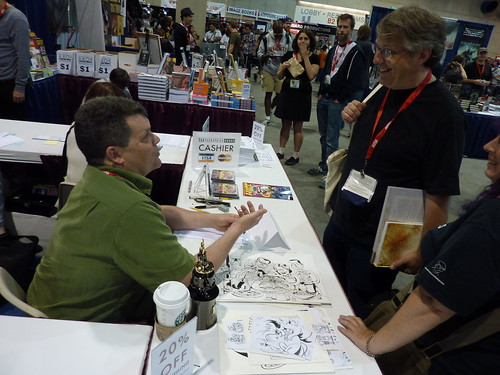 Peter Bagge & Scott McCloud - Fantagraphics at Comic-Con 2010
