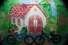 our bikes (Stephen Hines) Tags: bike bmx mural funny bikes brent balance rockon ocalafl