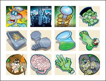 free Monster Money slot game symbols