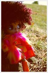 Groovy Jazz... (LadyGuinevere!) Tags: orange vintage mod ooak afro barbie skipper jazz wig blythe custom groovy sixties francie hs repro rbl wildbunch vintageskipper heathersky skimmystripes jezebellaroux