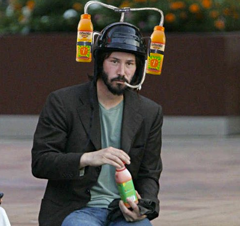 Sad Keanu Reeves Meme - Drink Helmet