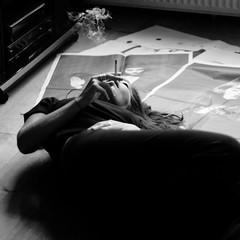 tribute to Inez van Lamsweerde & Vinoodh Matadin - Pretty Much Everything - photographs 1985-2010 (monyart) Tags: bw selfportrait girl amsterdam video pretty gallery inez smoking photographs foam girlpower much everything van matadin lamsweerde vinoodh monyart iogallery 19852010