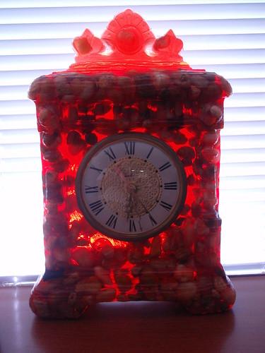 orange clock
