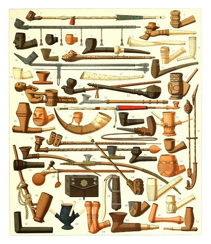 019-Pipas para fumar del Africa Negra -Geschichte des kostüms...1888- A. Racinet
