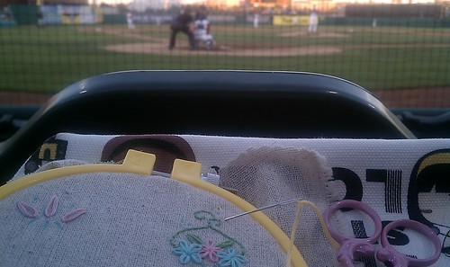 Stitchin at the ballgame