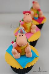 My Charming Boy Turtle! (Little Cottage Cupcakes) Tags: sea cupcakes picnic turtle icecream seaturtle fondant sugarpaste childrencupcakes littlecottagecupcakes