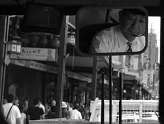 (It's Stefan) Tags: people blackandwhite bw blancoynegro monochrome face japan kyoto publictransportation noiretblanc busdriver cara vista  sight kansai glance biancoenero  gace  siyahvebeyaz schwazweis  stefanhchst
