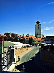 blue sky (Andra Dumi) Tags: blue tower square day sunny romania transylvania sibiu liarsbridge smallsquare