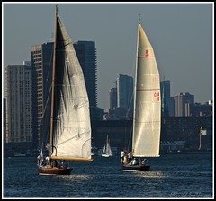 The Eight Meters ~ (**Mary**) Tags: city lake toronto ontario canada water sailboat wonder downtown sailing cityscape harbour sails greatlakes lakeontario gta masts torontoharbour keelboat saiboat saiing 5photosaday racingyacht 8mr canadianboating eightmetersailboats eightmeterboats