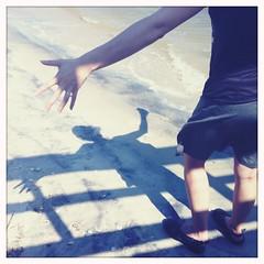 Beach! Hell To The Yes! (abbyladybug) Tags: shadow northcarolina southport hipstamatic blankofilm helgavikinglens