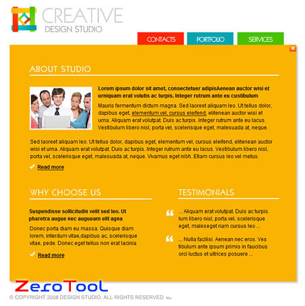 FlashMint 2033 Graphic designers flash template