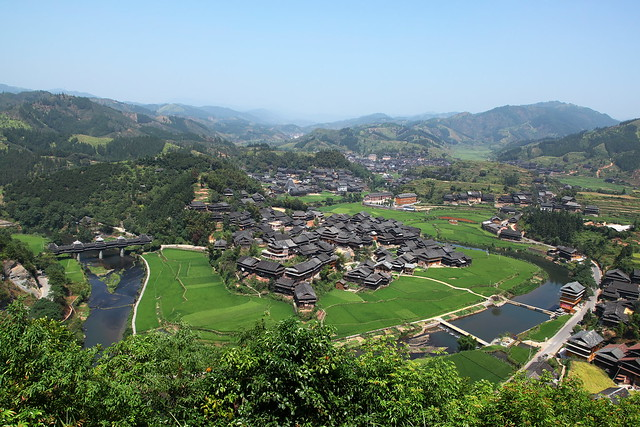 Landscape of Chengyang village, Guangxi, China