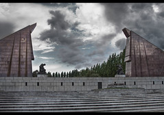 Gates of Fear and Glory (5canner) Tags: berlin statue germany dark memorial gates glory military fear communism soviet terror bleak epic totalitarian regime ussr monumental redarmy treptowerpark sovietwarmemorial socialistrealism ministryoffear totalitarianism yakovbelopolsky