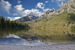 String Lake, Teton Reflection (Daryl L. Hunter - The Hole Picture) Tags: reflection grandtetons grandtetonnationalpark stringlake cathedralgroup jacksonholewyominggrandtetonnationalparkstringlakereflectingcathedralgroupgrandtetonmountianswyomingunitedstatesof