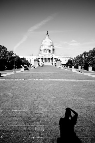 Self-portrait, Capitol Building, Washington DC