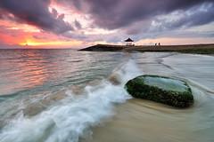 Sanur Beach Sunrise, Bali (Nora Carol) Tags: bali seascape rock indonesia landscape moss waves denpasar slowshutterspeed timorsea cokingnd p121s nikond90 noracarol p121l sanurbeachsunrise nicephotowalk